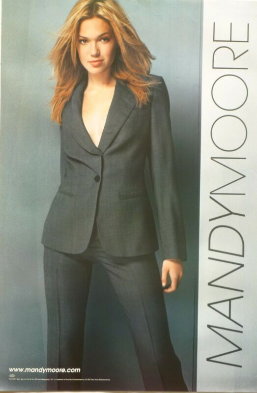MANDY MOORE U.S. PROMO POSTER FOR HER 2001 SELF-TITLED ALBUM - Teen Pop Music