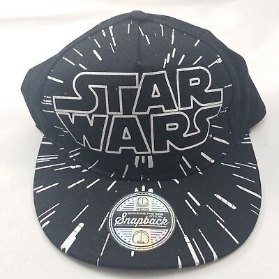 Star Wars Black Silver Kids Youth Berkshire Fashions Official Snapback Hat Cap