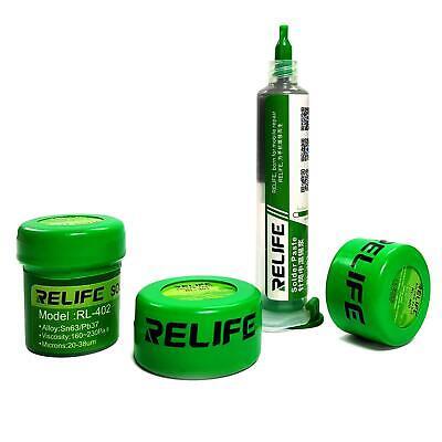 Relife Liquid Solder Paste Sn63pb37 Leaded Smd Bga Smt Stencil Repair
