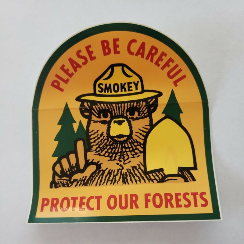 SMOKEY BEAR! Please Be Careful Protect Our  Forest Vinyl STICKER