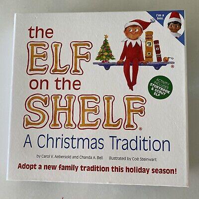 Elf On The Shelf Plush Boy Brown Eye Doll Soft Toy Ethnic Dark Skin NIB Box Book