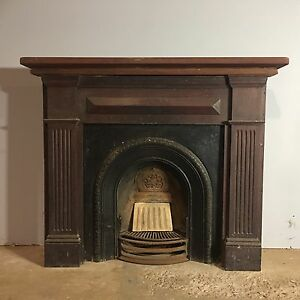 Victorian fireplace surround / carved wood mantle Salisbury Brisbane South West Preview