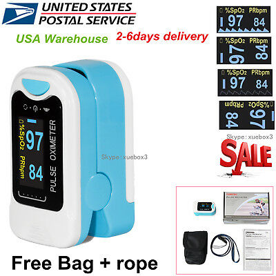Usa Contec Finger Tip Pulse Oximeter Blood Oxygen Meter Spo2 Heart Rate Monitor