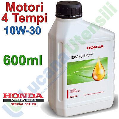 Olio 600ml Motori 4 Tempi HONDA ORIGINALE 10W-30 API/SJ Tagliando Giardinaggio