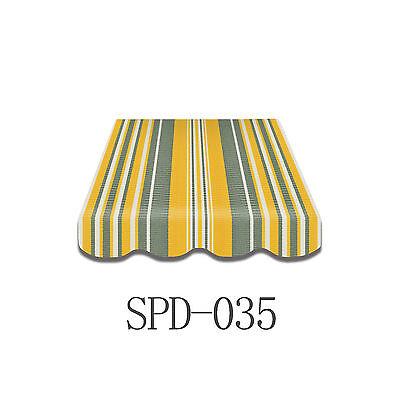 Markisenstoff  Markisenbespannung Ersatzstoff PLUS-Volant 4 x 2,5 m  SPD-035 NEU