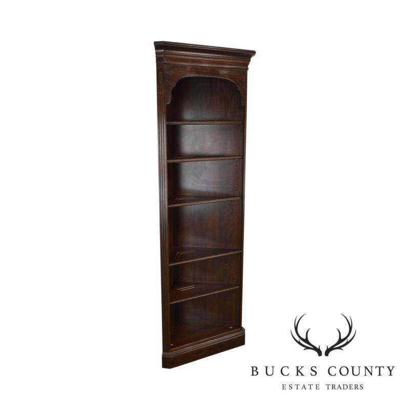 Ethan Allen Georgian Court Collection Cherry Open Corner Cabinet