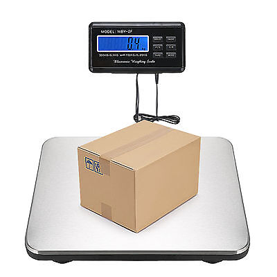 660LBS 0.1lb Digital Platform Scale Floor  LCD AC Bench Postal Shipping Weight