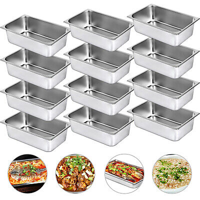 12 Pack Full Size 6 Deep Stainless Steel Steam Table Hotel Buffet Pans