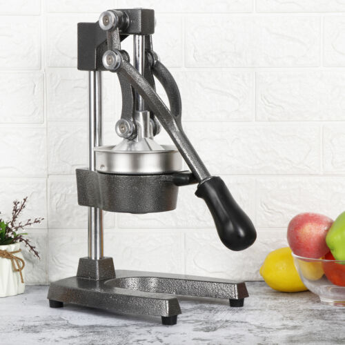 Commercial Fruit Juicer Bar Manual Press Orange Citrus Juice Extractor Gray Home & Garden