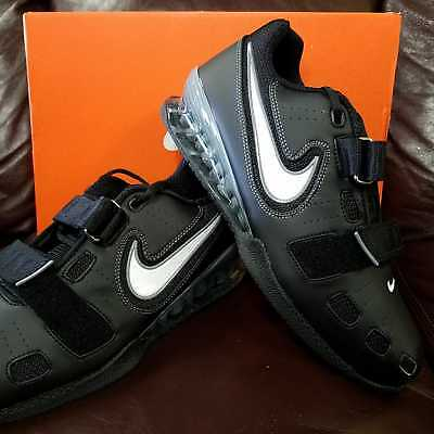 (BRAND NEW IN BOX! NIKE ROMALEOS 2 MENS WEIGHTLIFTING SHOES BLACK GREY WHITE 001)