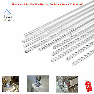 Alloy Aluminum Welding Brazing Soldering Repair 9 Rod Cracks Polish Paint Boat