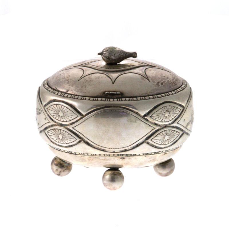 Rare Silver Ethrog Box Felix Horovitz Frankfurt Am Main Germany Ca 1905 Judaica