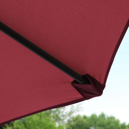 9′ Patio Umbrella Table Umbrella with 8 Sturdy Ribs Garden Lawn Backyard Red Garden Structures & Shade