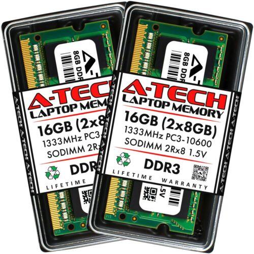 A-Tech 16GB 2x 8GB PC3-10600 Laptop SODIMM DDR3 1333MHz 204pin Memory RAM 16G 8G
