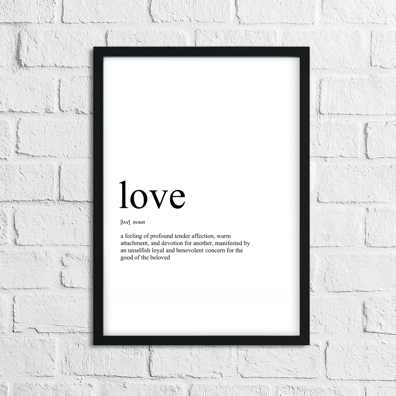 Funny Love Meaning Print, Definition, Typograpy, Wall Art
