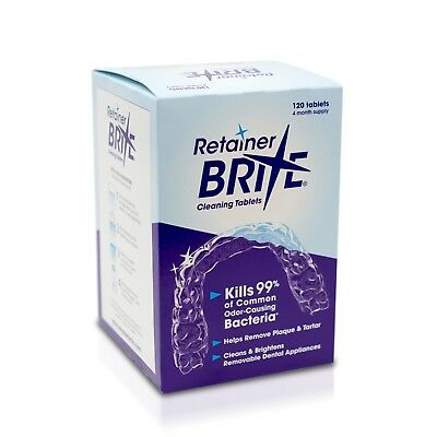 Retainer Brite Cleaning Tablets By DENTSPLY SIRONA 120 Tablets 4 Months Supply!