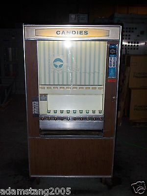 Vintage National Vendors 1971 Cm-72 Candy Vending Machine 10 Spot Old Antique