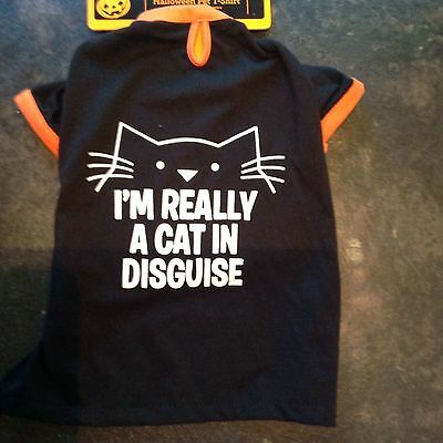 Pet Costume T-Shirt Black