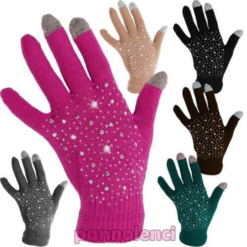 1ce8772c7eafc Guantes con 3 dedos toque de mezcla de lana de la mujer  puede escribir o  utilizar y las tabletas sin quitar guantes! Estos guantes están decoradas  en la ...