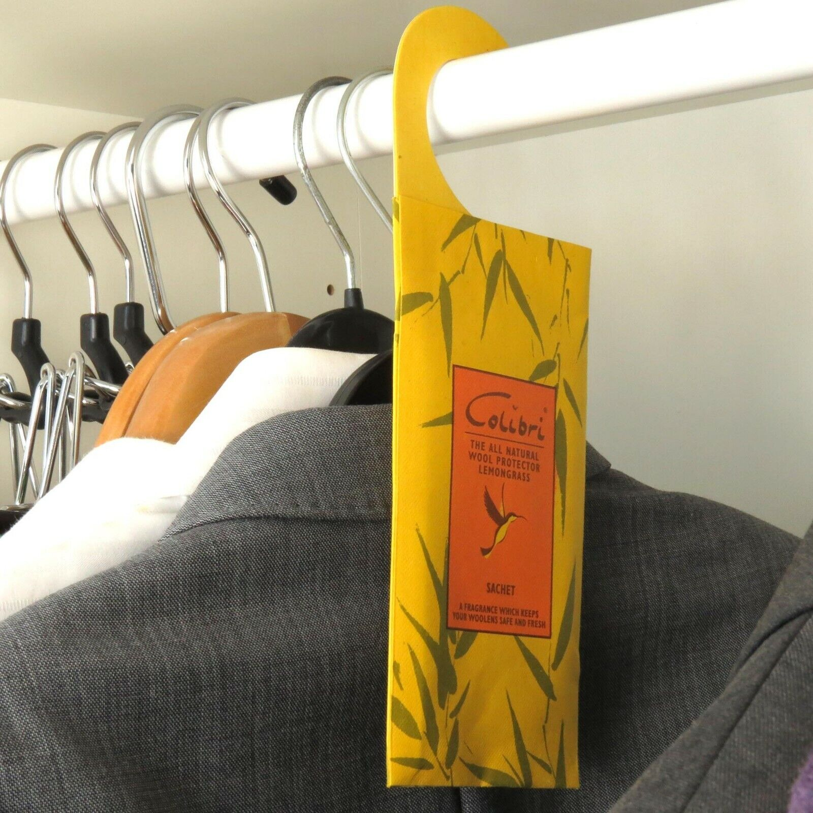 lemongrass moth repellent hanging sachet protects clothes