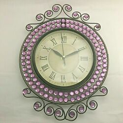 Vintage Wall Hanging Steel Clock 1.5 v Battery Not Included No Jewels HQ 3268