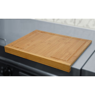 Profi Schneidebrett Schneidbrett Bambus Holz 45x35x1,5cm Tischkante