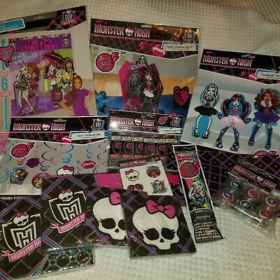 MONSTER HIGH BIRTHDAY PARTY THEME BUNDLE~GREAT FOR A YOUNG MONSTER HIGH FAN - Monster High Birthday Theme