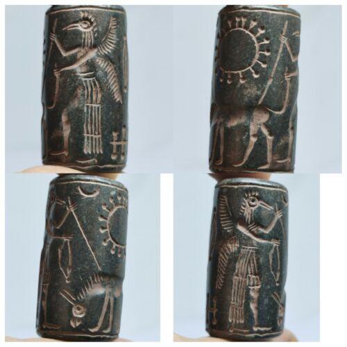 Near Eastern beautiful cylinderseal intaglio lovely stone bead#119