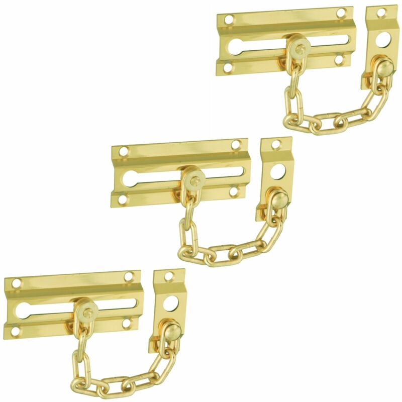 "Wideskall 3-Packs 3"" inch Slide Bolt Entry Door Security Chain Guard"