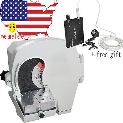 500w Dental Wet Model Shaping Model Trimmer W Abrasive Disc Wheelgift Led Light
