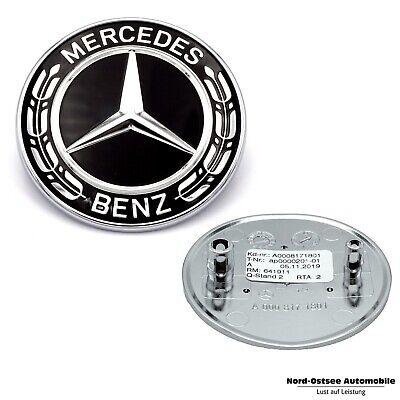 Orig.Mercedes-Benz Emblem Black Edition schwarz f. Stoßstange AMG GT CLS CLA GLA
