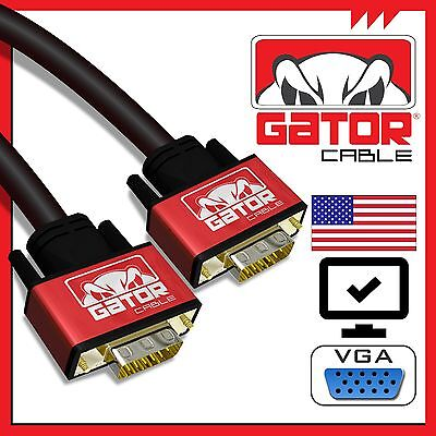 Super SVGA VGA Monitor Cable Cord Male to Male 15 Pin VGA Extension for PC 6FT 6ft Svga Monitor Extension Cable