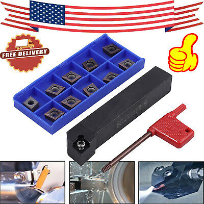 10pcs Sclcr1616h09 Lathe Turning Tool Ccmt09t304 Carbide Inserts Cutter Holder