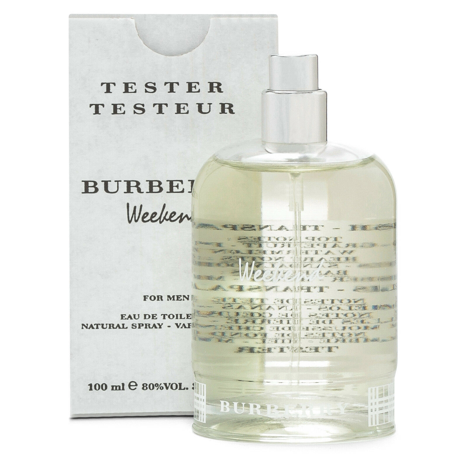 be07c8c9a4b Burberry Weekend Men s 3.4oz   100ml EDT- New In Box - TESTER ...