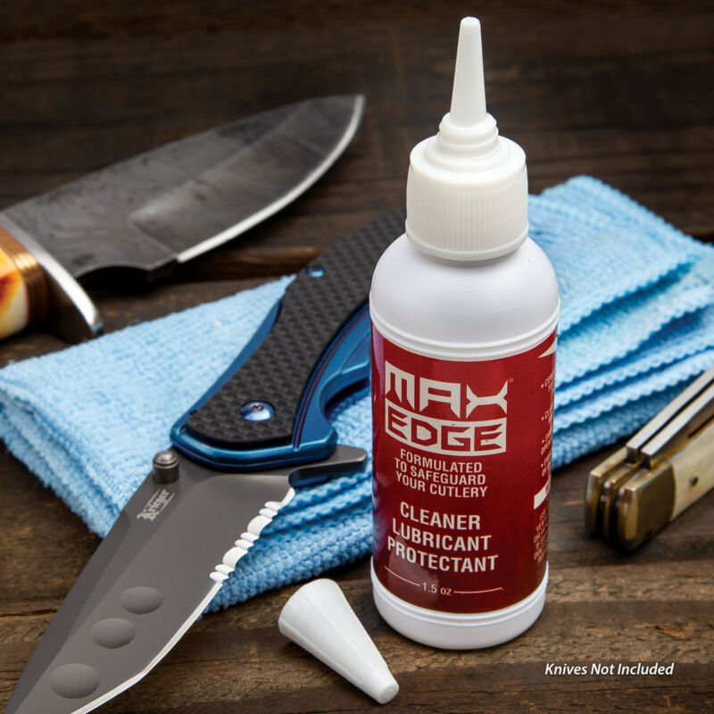 MaxEdge CLP Knife Lube Lubricant Oil Removes Rust Cleaning Protectant 1.5oz