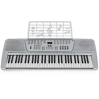 New Silver 61 Key Electronic Music Keyboard, Electric Piano Organ on Rummage