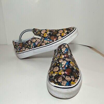 Vans Of The Wall-PEANUTS The Gang SNOOPY Charlie Brown Mens Size 9 Shoes/see Pic