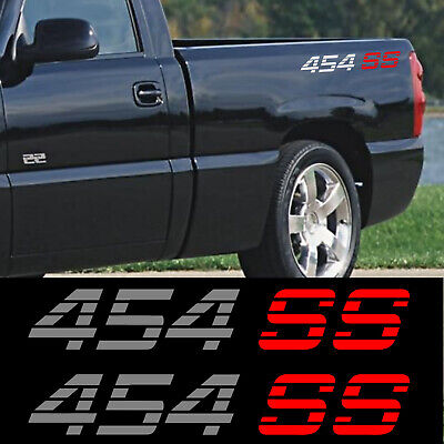 Chevy pickup 1990 454 SS Decal stickers set of 2 Chevrolet Silverado sierra 4x4