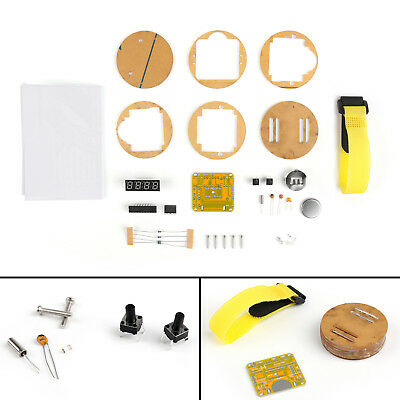 1set Diy Scm Led Digital Watch Electronic Clock Kits With Transparent Cover Ue