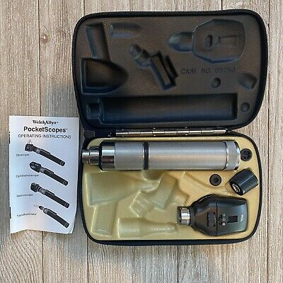 Welch Allyn Ophthalmoscope 11720 W Power Handle 71050-c Case No Battery