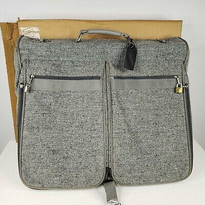 Vintage 80s Samsonite Gray Profile Tweed Travel Garment Valet Bag Luggage