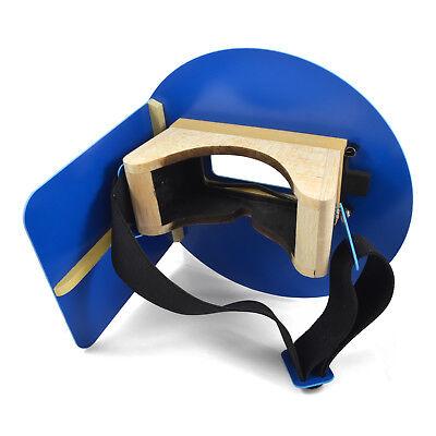 Wendys Pancake Welding Hood Helmet W Strap - Right Handed - Electric Blue