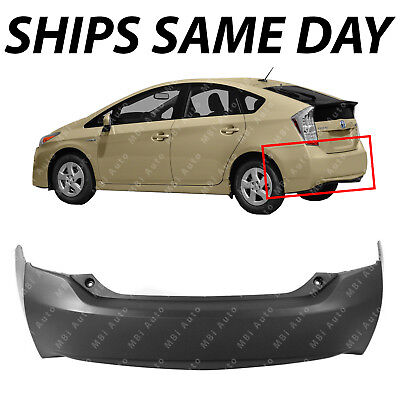 NEW Primered   Rear Bumper Cover for 2010 2015 Toyota Prius 10 15 TO1100280