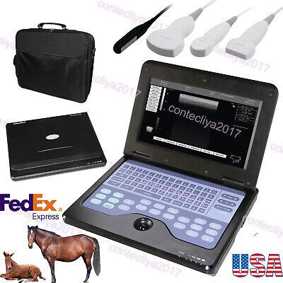 Veterinary Vet Laptop Ultrasound Scanner Machine Convexlinearcardiacrectalus