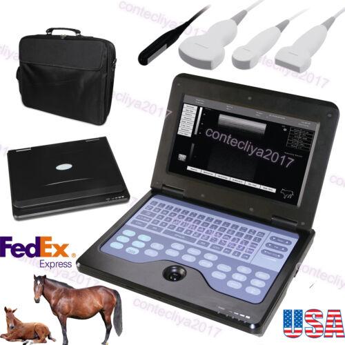 Veterinary vet Laptop Ultrasound Scanner Machine Convex/Linear/Cardiac/Rectal,US