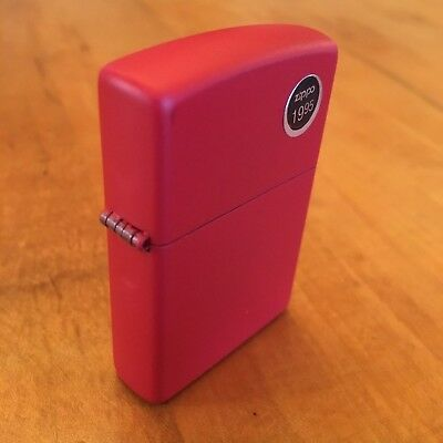 Genuine Zippo 233 red matte windproof Lighter CASE ONLY No I