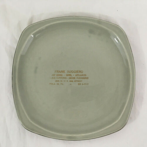 Vintage Paden City Pottery Minion Gray Philadelphia Advertising Plate