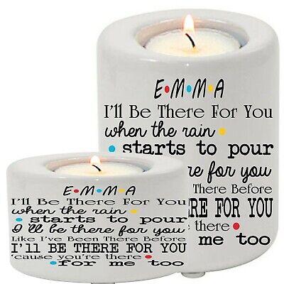 Personalised Ceramic Tea Light Candle Holder Friends TV Show Best Friend