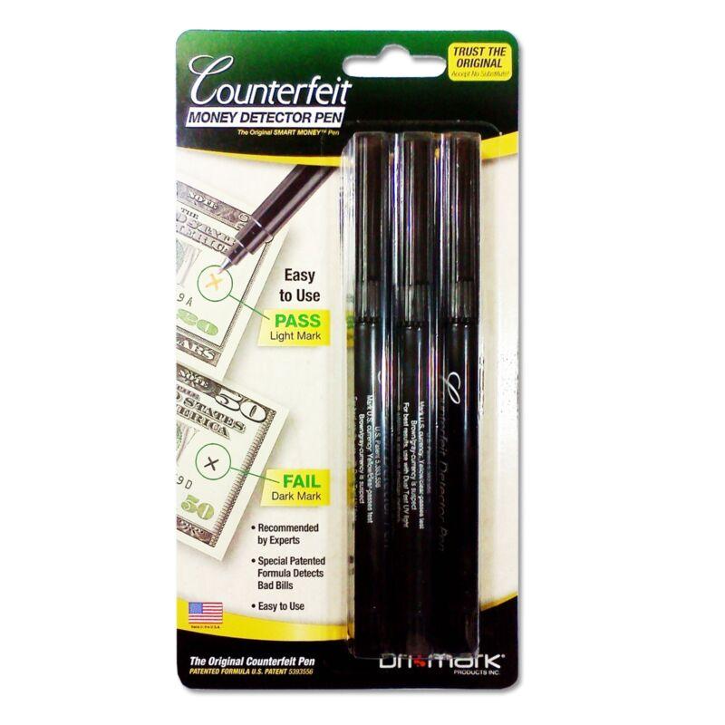 DriMark Smart Money Counterfeit  Bill Detector Pen 3513B1 Brand NEW  3 Pack