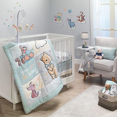 Disney Winnie The Pooh Abcs Crib, Pink Winnie The Pooh Baby Bedding